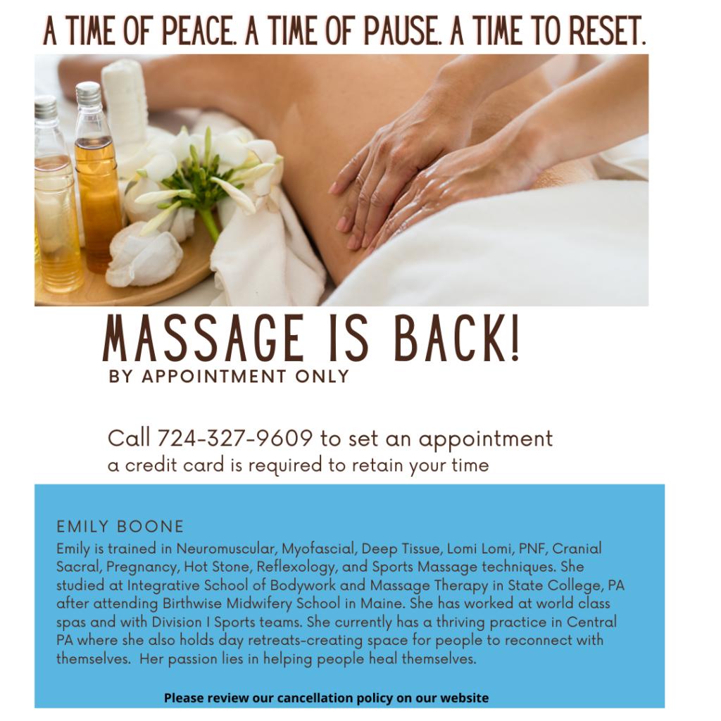 massage is back-1